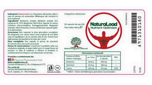 NaturaLoad etichetta retro prodotto