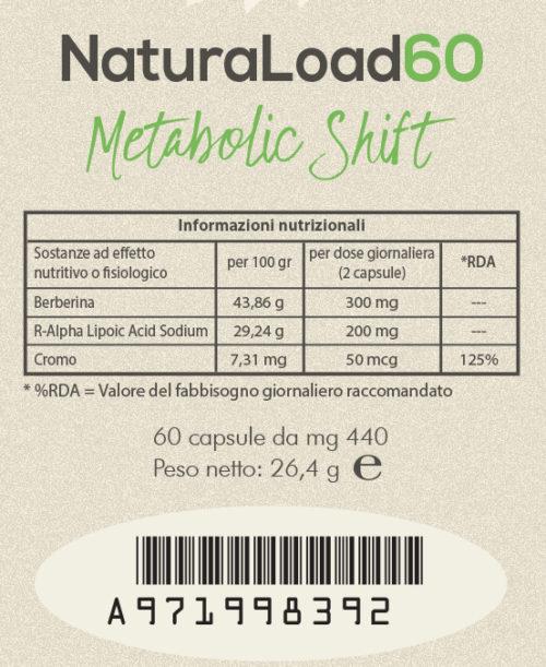 naturaload 60 etichetta